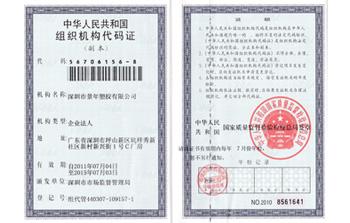 景年组织机构代码证
