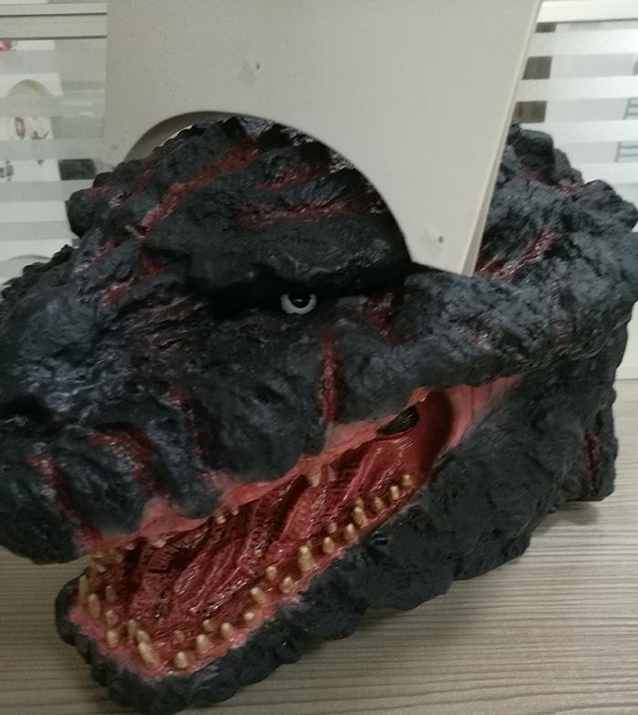 哥斯拉恐龙大型面具定制