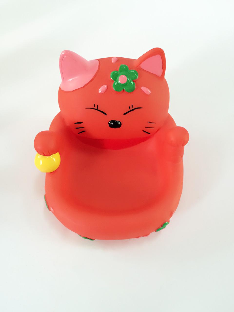红色猫咪手机座