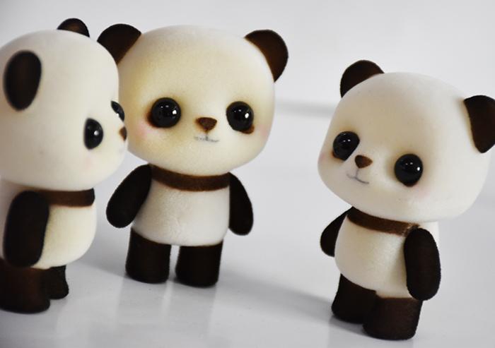 塑胶植绒萌熊猫