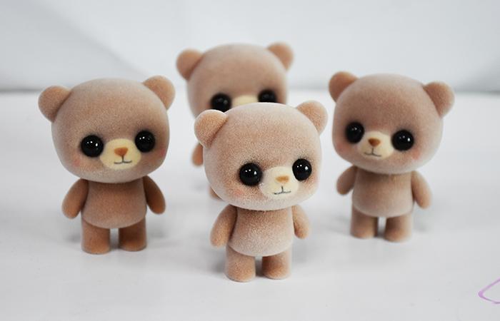 塑胶植绒棕萌熊