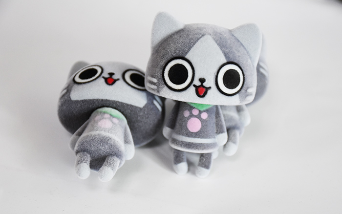 灰色大头萌猫
