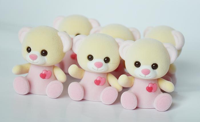 黄+粉色爱心熊