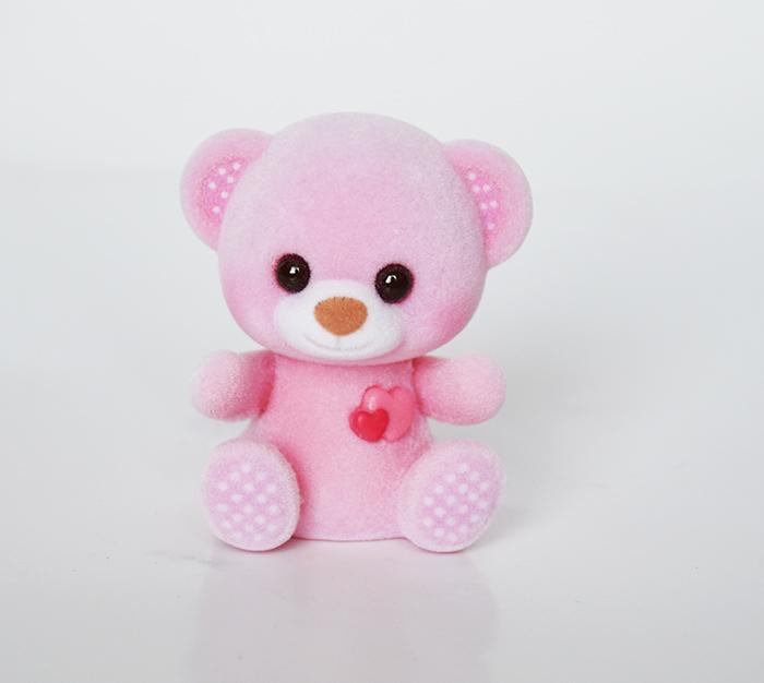 粉色圆点爱心熊
