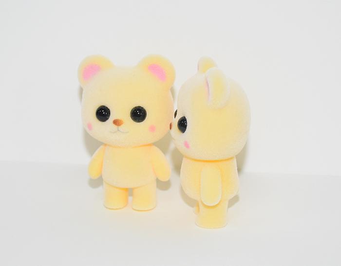 新款塑胶植绒黄熊