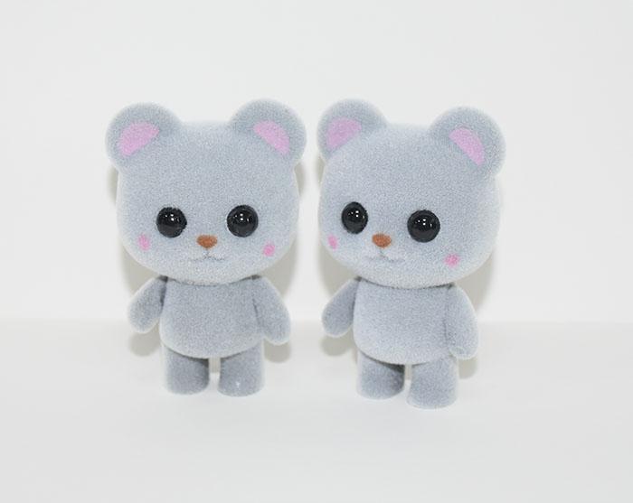 新款塑胶植绒灰熊