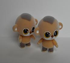 新款植绒小黄猴