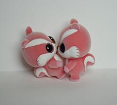 新款植绒红松鼠